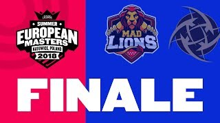 EU Masters Sezona 2 FINALE - Mad Lions vs NiP | Bo5