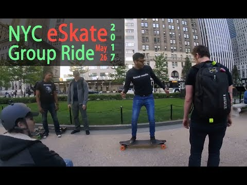 NYC eSkate Group Ride Central Park 2017.5.26