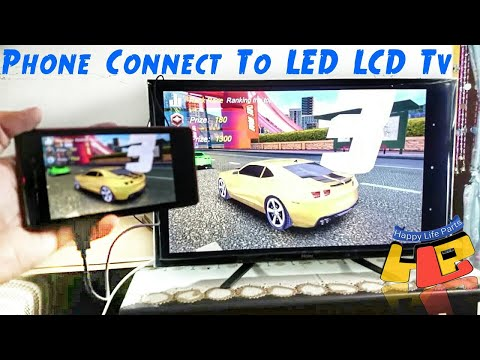 how to connect HDMI MHL cable phone to tv