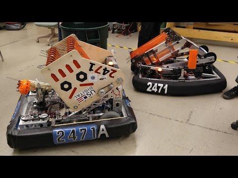 Speedy & ThunderMcBoomStix  2016 BunnyBots Reveal   Team 2471
