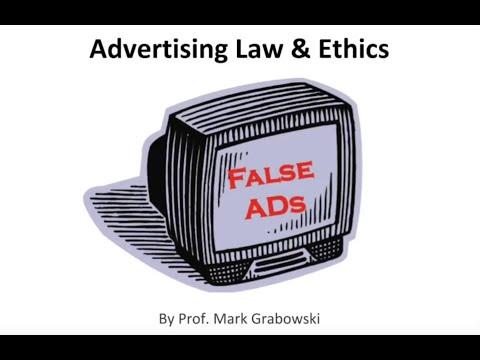 Advertising Law & Ethics