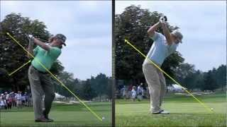 Miguel Jimenez & Ryan Moore Golf Swing Comparing By Craig Hanson