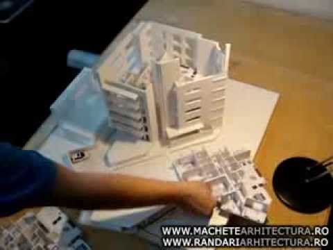 Demountable Office Building Scale Model