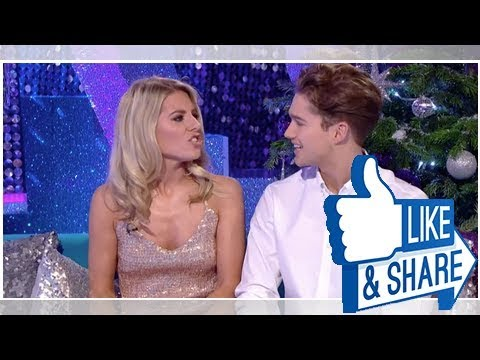 strictly come dancing's mollie king and aj pritchard asked if they're in love on live tv