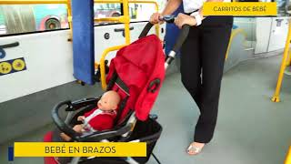 Como viajar en Guaguas Municipales con carros de bebé
