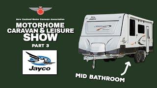 New Jayco Mid Bath Layout & New Optimum| NZMCA Motorhome Caravan & Leisure Show 2019