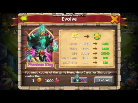 Castle Clash - 5th Evolution - Phantom King!