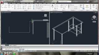 Autocad 2013 - 3d Modeling Basics - Desk - Brooke Godfrey