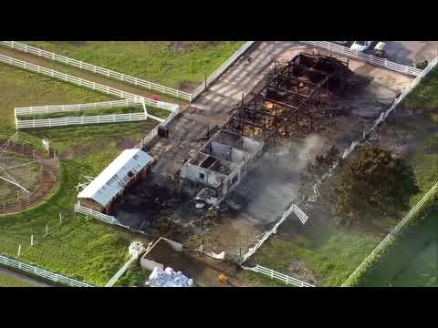 Chopper 5: Barn destroyed by fire in Wellington; 3 horses killed