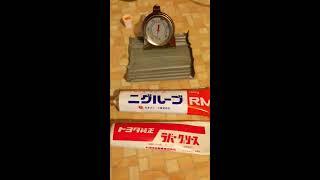Тест смазки Toyota 08887-01206 ( слева)  и MITSUBISHI  Niglube RM (справа)