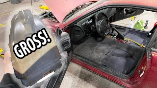 homepage tile video photo for Cleaning the interior of a 240sx that sat for 10 years..