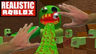 Realistic Roblox - ESCAPE THE SUBWAY OBBY   ESCAPE THE GIANT EVIL ZOMBIE!