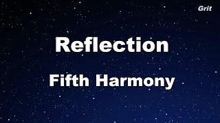 Reflection - Fifth Harmony Karaoke 【No Guide Melody】Instrumental