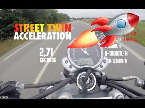 Triumph Street Twin 0-100 km/h 0-60 mph Acceleration