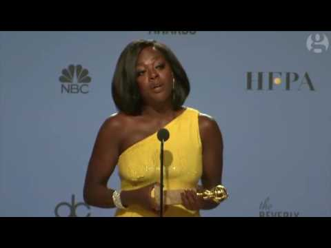 Thumbnail: Viola Davis makes powerful anti-Trump speech backstage at Golden Globes – video