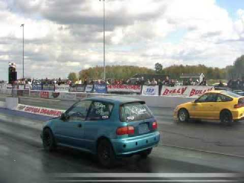 SSAM pinho Yellow CRX vs Green Civic EG
