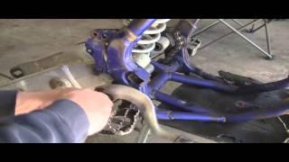 YZ125 Part 19: 2 Stroke  Removing Swing Arm, Pegs & Rear Brake Lever