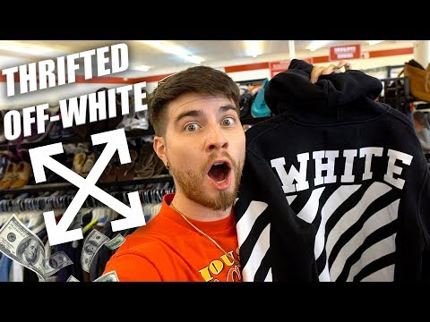 OFF WHITE HOODIE IN THE THRIFT! Trip to the Thrift #283