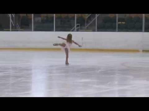 Maya 6 year old wins Basic 7 Figure Skating Gold