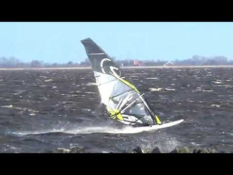 Slotermeer windsurfing -  4 februari 2018