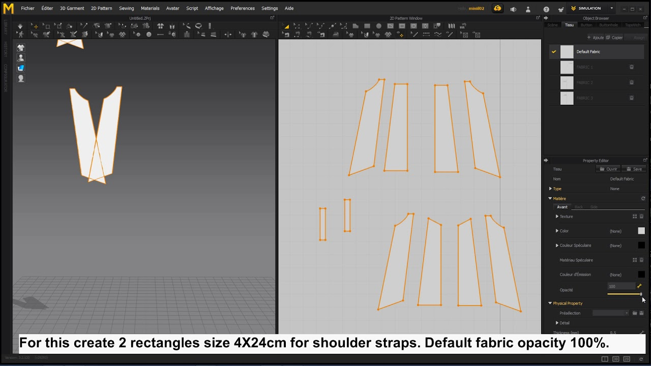 Test your Seamly2D sewing pattern with Marvelous Designer