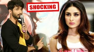 Shahid Kapoor AVOIDS Questions On Kareena Kapoor