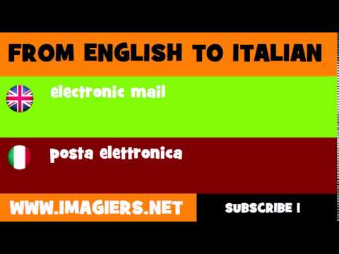 How to say electronic mail in Italian