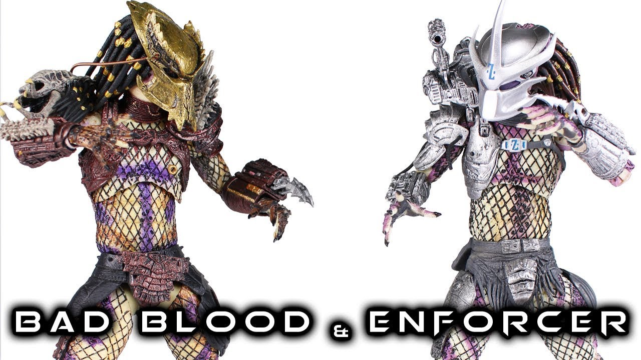 NECA BAD BLOOD & ENFORCER Predator 2 Pack Action Figure Review
