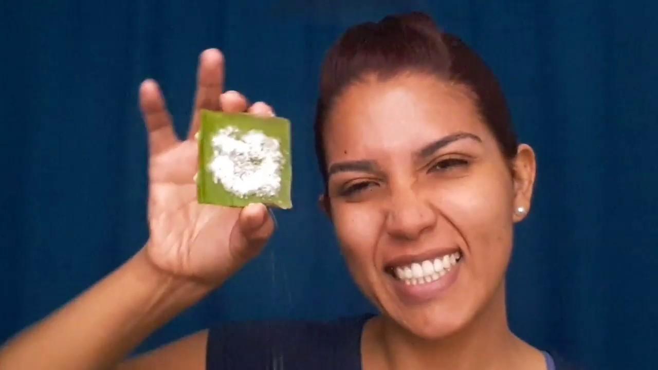 sabila y bicarbonato para manchas en la cara