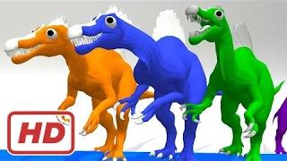 Железнодорожный транспортер динозавров цвета цветов песни для детей   Цвета, обучение видео