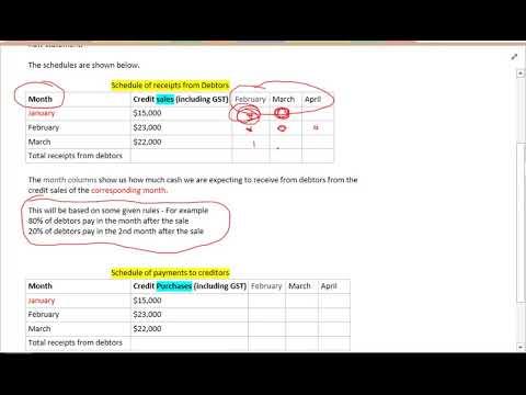 debtors and creditors schedules