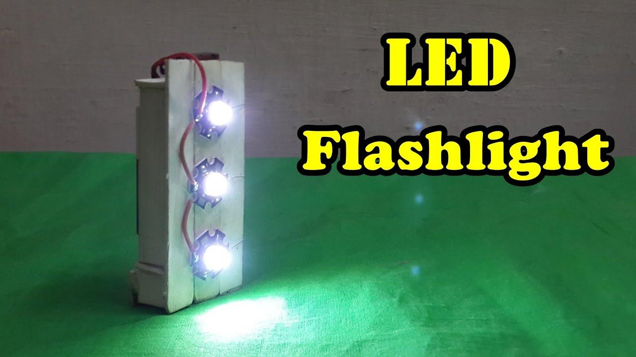 How to Make a LED Flashlight using Popsicle Sticks