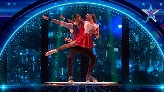 Estos PATINADORES se convierten en JOKER y HARLEY QUINN | Semifinal 2 | Got Talent España 5 (2019)