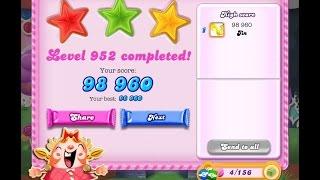 Candy Crush Saga Level 952     ★★★   NO BOOSTER