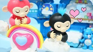 Fingerlings Play ! Toys and Dolls Fun for Kids with Monkeys Morning Routine, Care Bears Blind Bags