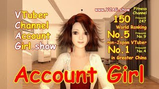 Account Girl No.1 Greater China VTuber !!! World Ranking 150 !!!