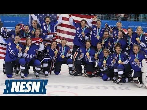 USA Women's Hockey Lights Up Social Media After Gold Medal Win