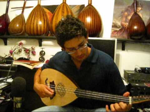 George Pappas is playing a 4 string lavta by Nuri Kritiko syrto