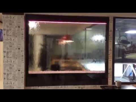 Водопад по двум стеклам