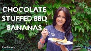 How To Make Chocolate Stuffed BBQ Bananas