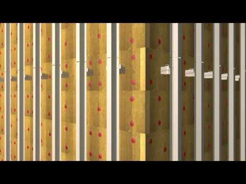 Монтаж фасадной системы «Альт-Фасад 01».