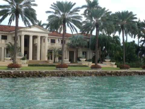 Billionaire Phillip Frost's Home on Star Island, Miami Beach Florida