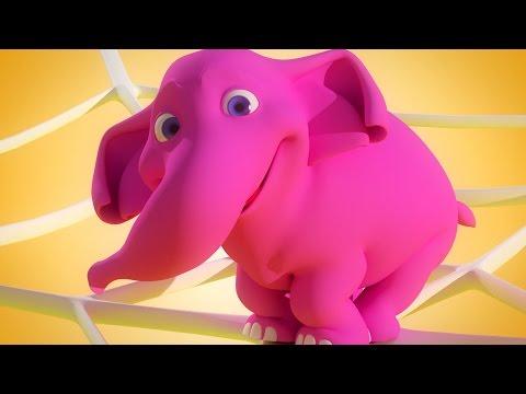En Elefant Balanserade - Barnsånger På Svenska - lär barnen att räkna
