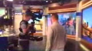 Ricky at PIX Channel 11 - NY TV Station using camera equipment