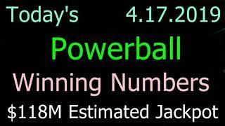 Today Powerball Winning Numbers 17 April 2019. Tonight Powerball Drawing 4/17/2019