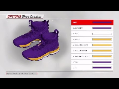 115b2b389fc NBA 2K18 Shoe Creator  Lebron 15 Custom