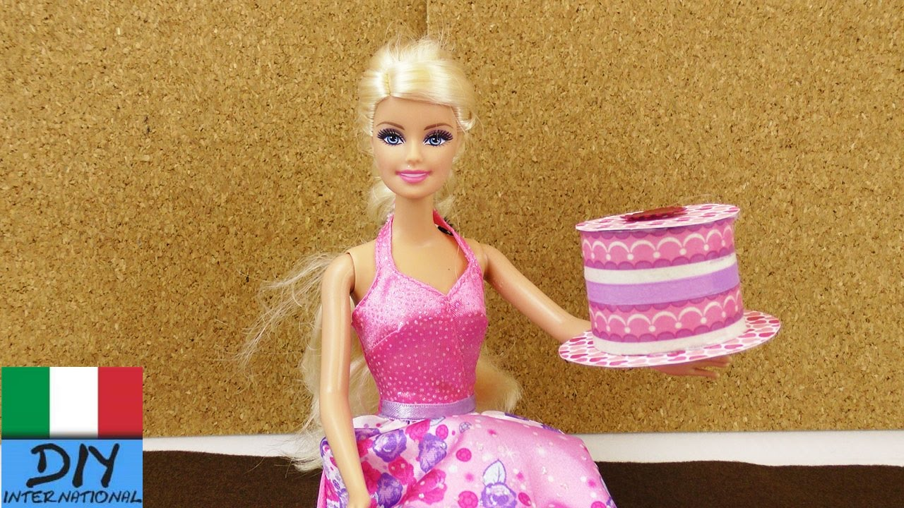 Fai da te barbie torta alla crema di carta per il gioco for Accessori per la casa di barbie
