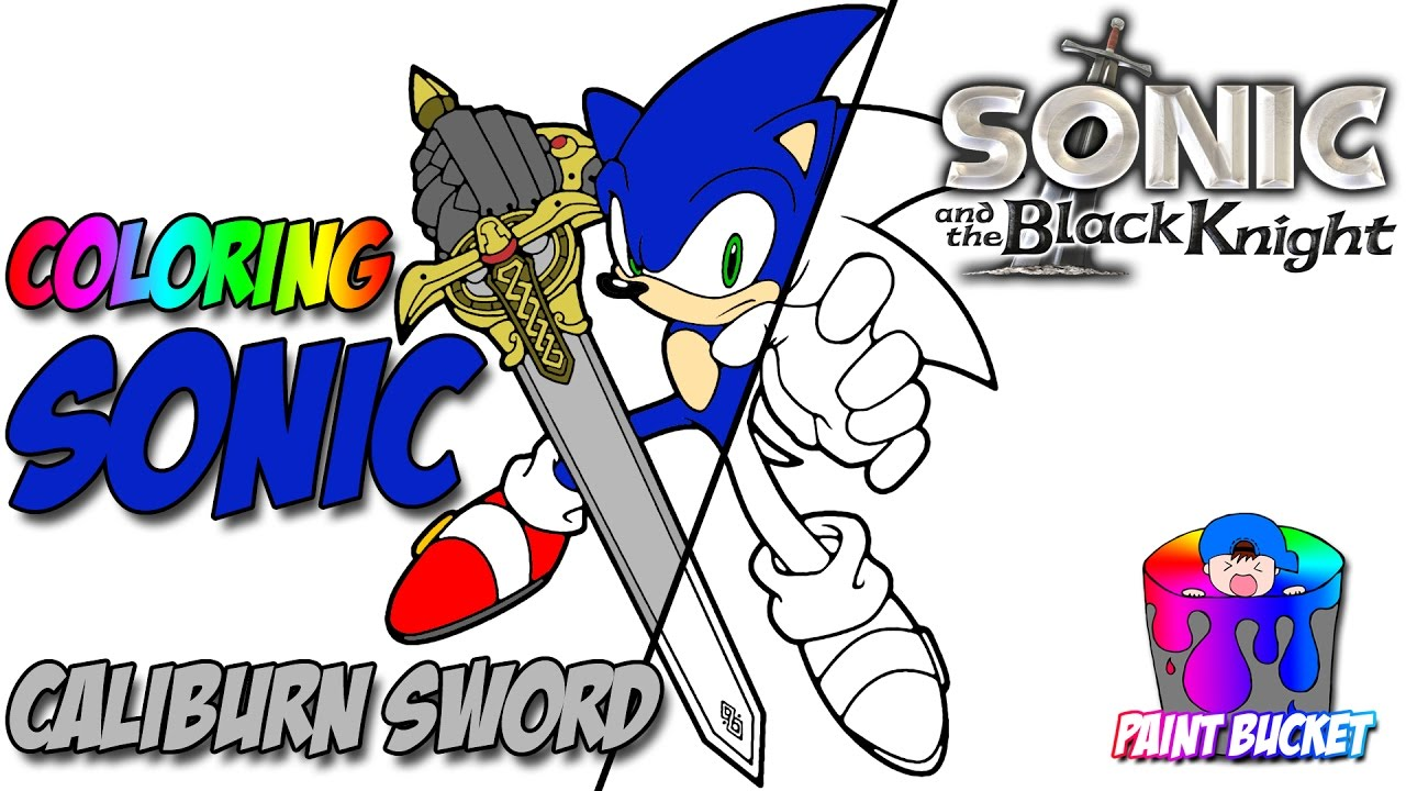 coloring sonic the hedgehog with sword sega video games coloring