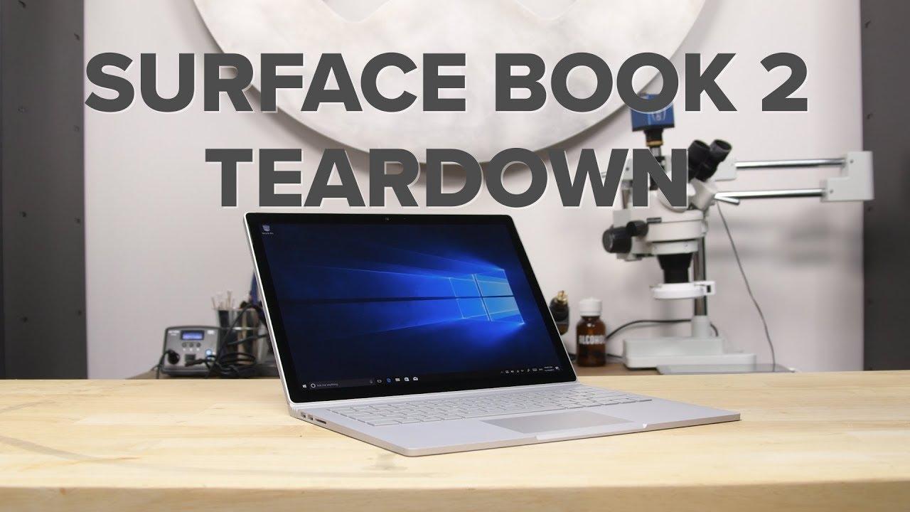 microsoft surface book 2 teardown youtube. Black Bedroom Furniture Sets. Home Design Ideas