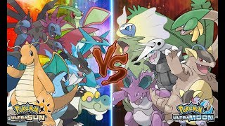 Pokemon Ultra Sun and Ultra Moon: Dinosaur Vs Dragon (Pokémon Wifi Battle)